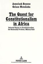 The Quest for Constitutionalism in Africa