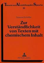 Zur Verstaendlichkeit Von Texten Mit Chemischem Inhalt (Theorie Und Vermittlung Der Sprache, nr. 19)