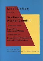 Studien Zur Wiener Schule 1 (Musikleben Studien Zur Musikgeschichte Oesterreichs, nr. 4)