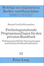 Freiheitsgestaltende Programmauflagen Fuer Den Privaten Rundfunk (European University Studies, Series II Law, nr. 12)