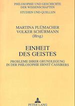 Einheit Des Geistes (Philosophie Und Geschichte Der Wissenschaften, nr. 33)