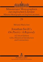Jonathan Swift's on Poetry (Munster Monographs on English Literature, nr. 29)