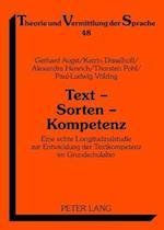 Text - Sorten - Kompetenz af Thorsten Pohl, Gerhard Augst, Katrin Disselhoff