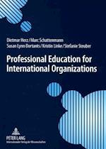 Professional Education for International Organizations