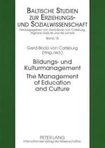 Bildungs- Und Kulturmanagement- The Management of Education and Culture (Baltische Studien Zur Erziehungs-Und Sozialwissenschaft, nr. 15)