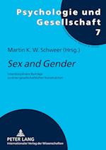 Sex and Gender (Psychologie und Gesellschaft, nr. 7)