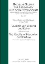 Qualitaet Von Bildung Und Kultur- The Quality of Education and Culture (Baltische Studien Zur Erziehungs-Und Sozialwissenschaft, nr. 17)