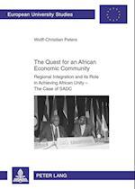 The Quest for an African Economic Community (Europaeische Hochschulschriften European University Studie, nr. 591)