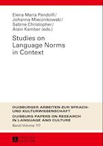 Studies on Language Norms in Context
