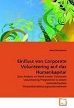 Einfluss Von Corporate Volunteering Auf Das Humankapital