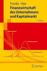 Finanzwirtschaft Des Unternehmens Und Kapitalmarkt af Herbert Hax, G. Nter Franke, Gunter Franke