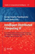 Intelligent Distributed Computing III (Studies in Computational Intelligence)