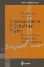Phase Separation in Soft Matter Physics : Micellar Solutions, Microemulsions, Critical Phenomena