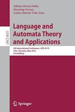 Language and Automata Theory and Applications af Carlos Martin-Vide