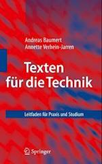 Texten Fur Die Technik af Andreas Baumert, Annette Verhein-Jarren