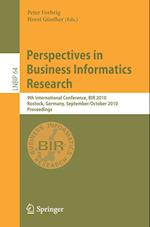Perspectives in Business Informatics Research (Lecture Notes in Business Information Processing)
