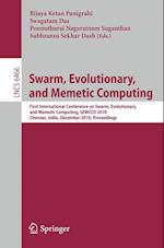Swarm, Evolutionary, and Memetic Computing (Lecture Notes in Computer Science)