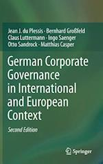 German Corporate Governance in International and European Context af Jean J Du Plessis, Matthias Casper, Otto Sandrock