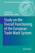 Study on the Overall Functioning of the European Trade Mark System