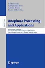 Anaphora Processing and Applications (Lecture Notes in Computer Science: Lecture Notes in Artificial Intelligence, nr. 7099)