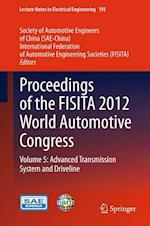 Proceedings of the FISITA 2012 World Automotive Congress af Society of Automotive Engineers of China