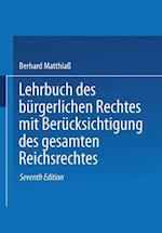 Lehrbuch Des Burgerlichen Rechtes