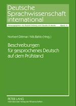 Beschreibungen fuer gesprochenes Deutsch auf dem Pruefstand af Norbert Dittmar