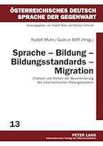 Sprache - Bildung - Bildungsstandards - Migration