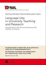 Language Use in University Teaching and Research