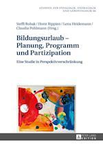 Bildungsurlaub - Planung, Programm und Partizipation af Horst Rippien