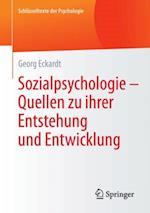 Sozialpsychologie - Quellen  zu ihrer Entstehung und Entwicklung af Georg Eckardt