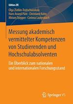 Messung Akademisch Vermittelter Kompetenzen Von Studierenden Und Hochschulabsolventen af Olga Zlatkin-Troitschanskaia, Christiane Kuhn, Miriram Toepper