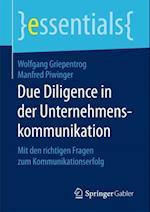 Due Diligence in der Unternehmenskommunikation af Manfred Piwinger, Wolfgang Griepentrog