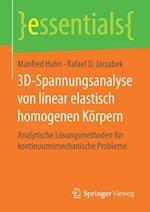 3D-Spannungsanalyse Von Linear Elastisch Homogenen Korpern (Essentials)