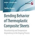 Bending Behavior of Thermoplastic Composite Sheets : Viscoelasticity and Temperature Dependency in the Draping Process