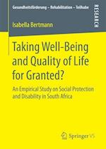 Taking Well-Being and Quality of Life for Granted? : An Empirical Study on Social Protection and Disability in South Africa