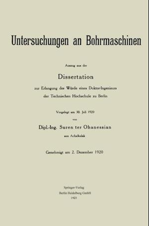 Untersuchungen an Bohrmaschinen