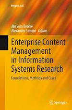 Enterprise Content Management in Information Systems Research (Progress in Is)