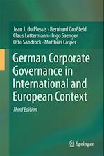 German Corporate Governance in International and European Context af Ingo Saenger, Otto Sandrock, Claus Luttermann