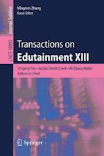 Transactions on Edutainment XIII (Lecture Notes in Computer Science, nr. 1009)