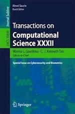 Transactions on Computational Science XXXII (Lecture Notes in Computer Science, nr. 10830)