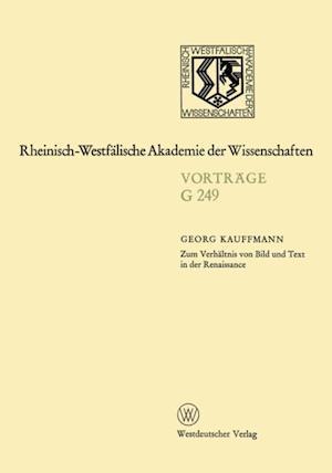 Zum Verhaltnis von Bild und Text in der Renaissance af Georg Kauffmann