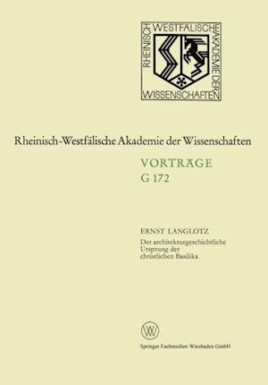 Der architekturgeschichtliche Ursprung der christlichen Basilika af Ernst Langlotz