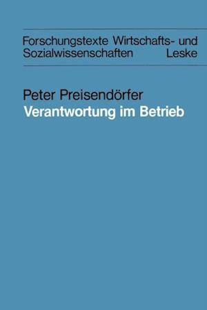 Verantwortung im Betrieb af Peter Preisendorfer