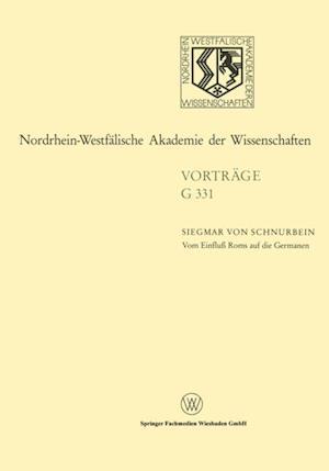 Vom Einflu Roms auf die Germanen af Siegmar ˜vonœ Schnurbein