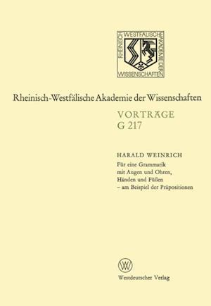 Fur eine Grammatik mit Augen und Ohren, Handen und Fuen - am Beispiel der Prapositionen af Harald Weinrich