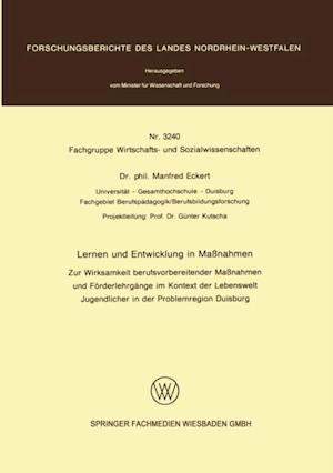 Lernen und Entwicklung in Manahmen af Manfred Eckert