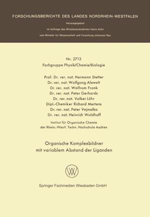 Organische Komplexbildner mit variablem Abstand der Liganden af Hermann Stetter