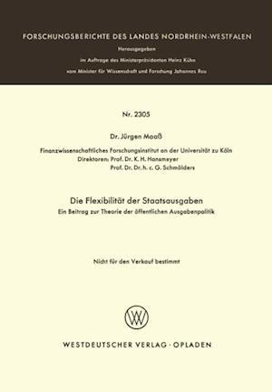 Die Flexibilitat der Staatsausgaben af Jurgen Maa
