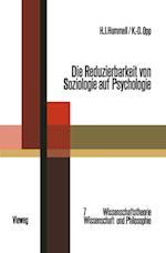 Die Reduzierbarkeit von Soziologie auf Psychologie af Hans J. Hummell